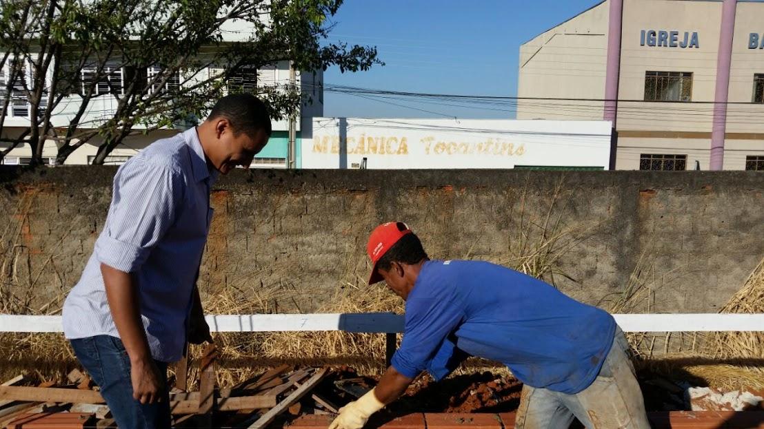 Sargento Pereira Jr. viabiliza reforma da Escola Municipal Edinê Rodrigues Gomes